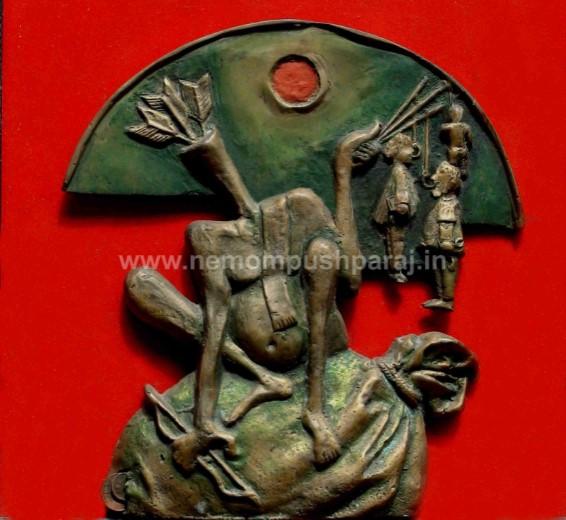 ജനാതിപത്യത്തിന്റെ കശാപ്പുകാരന് 2൦൦൦ വെങ്കലശില്പ്പം