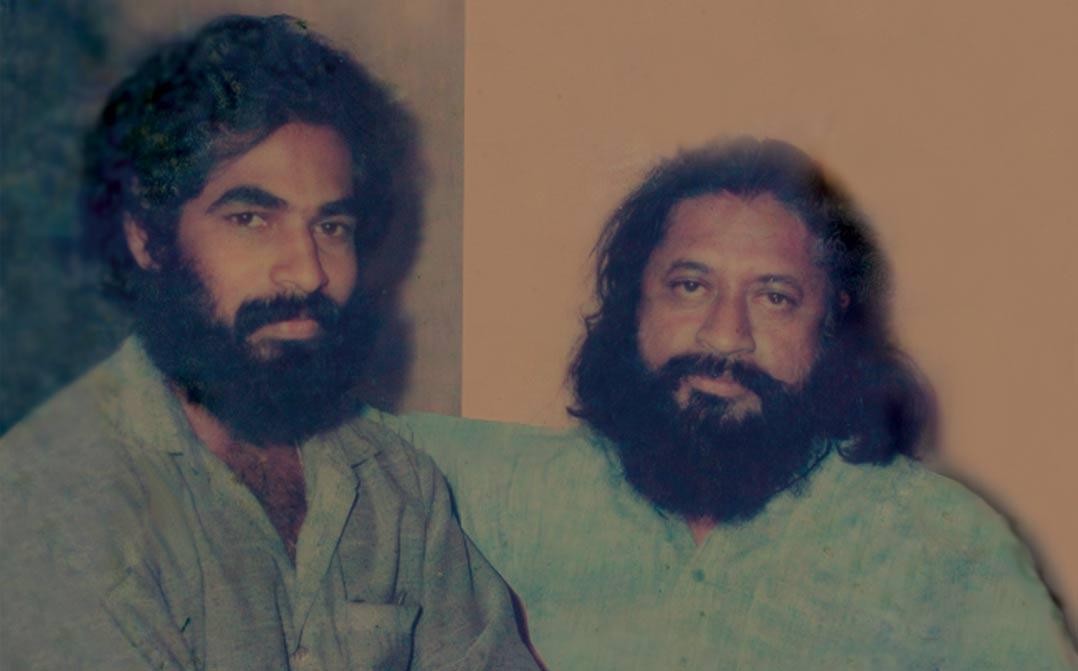 ചലച്ചിത്ര കലയിലെ ഗുരുനാഥന് പി.എ. ബക്കറിനോടൊപ്പം - 1988